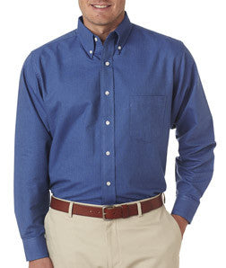 UltraClub Mens Classic Wrinkle-Free Long-Sleeve Oxford - EZ Corporate Clothing  - 5