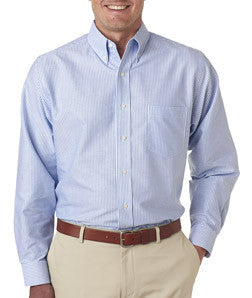 UltraClub Mens Classic Wrinkle-Free Long-Sleeve Oxford - EZ Corporate Clothing  - 2