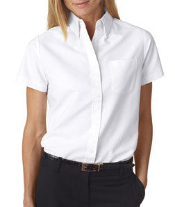 UltraClub Ladies Classic Wrinkle-Free Short-Sleeve Oxford - EZ Corporate Clothing  - 6