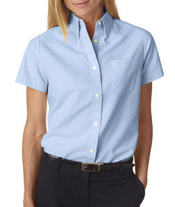 UltraClub Ladies Classic Wrinkle-Free Short-Sleeve Oxford - EZ Corporate Clothing  - 4