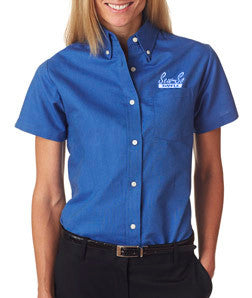 UltraClub Ladies Classic Wrinkle-Free Short-Sleeve Oxford