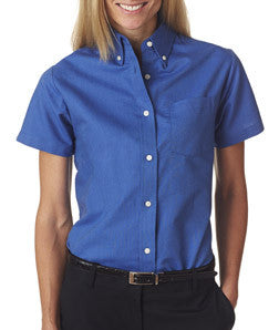 UltraClub Ladies Classic Wrinkle-Free Short-Sleeve Oxford - EZ Corporate Clothing  - 3