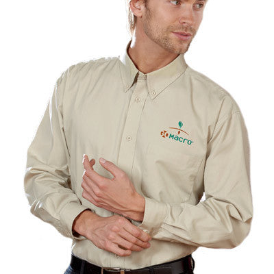 UltraClub Mens Whisper Twill Shirt