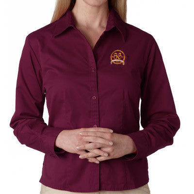 UltraClub Ladies Whisper Twill Shirt - EZ Corporate Clothing  - 1