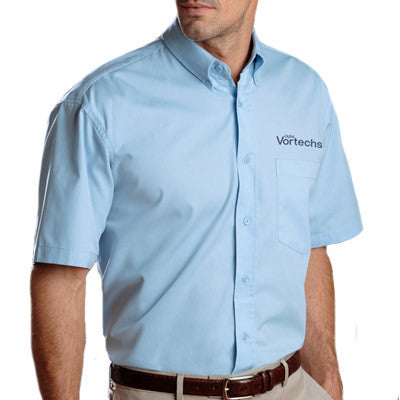 UltraClub Short-Sleeve Whisper Twill Shirt - EZ Corporate Clothing  - 1