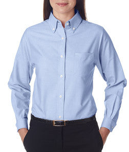 UltraClub Ladies Classic Wrinkle-Free Long-Sleeve Oxford - EZ Corporate Clothing  - 5