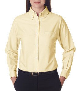 UltraClub Ladies Classic Wrinkle-Free Long-Sleeve Oxford - EZ Corporate Clothing  - 2