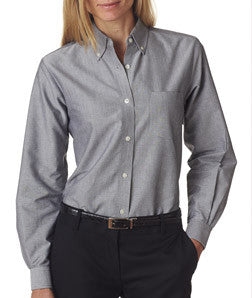 UltraClub Ladies Classic Wrinkle-Free Long-Sleeve Oxford - EZ Corporate Clothing  - 3