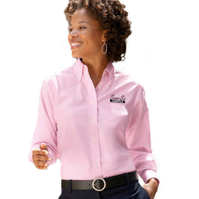 UltraClub Ladies Classic Wrinkle-Free Long-Sleeve Oxford