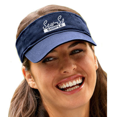 Anvil Three-panel Solid-color Twill Visor - EZ Corporate Clothing  - 1