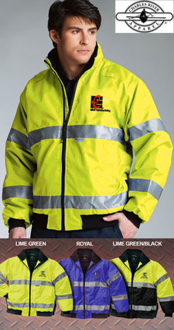 Charles River Signal Hi-Vis Jacket - EZ Corporate Clothing  - 2