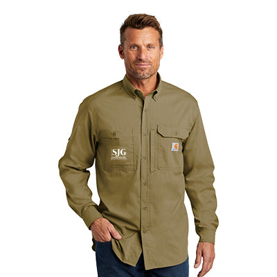 Carhartt Solid Long-Sleeve Button-Down Shirt
