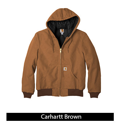 Carhartt Duck Active Jacket - Quilted Flannel Lined