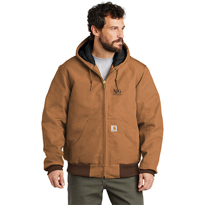 Custom Carhartt Duck Active Jacket with Customization