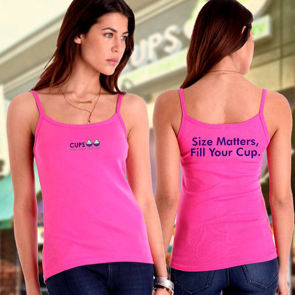 Bella Ladies Tank - Size Matters, Fill Your Cup - EZ Corporate Clothing
