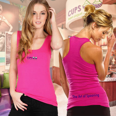 Bella Ladies Racerback Tank - The Art Of Spooning - EZ Corporate Clothing