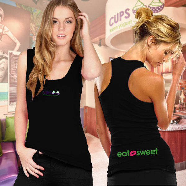 Bella Ladies Racerback Tank - Eat Sweet - EZ Corporate Clothing