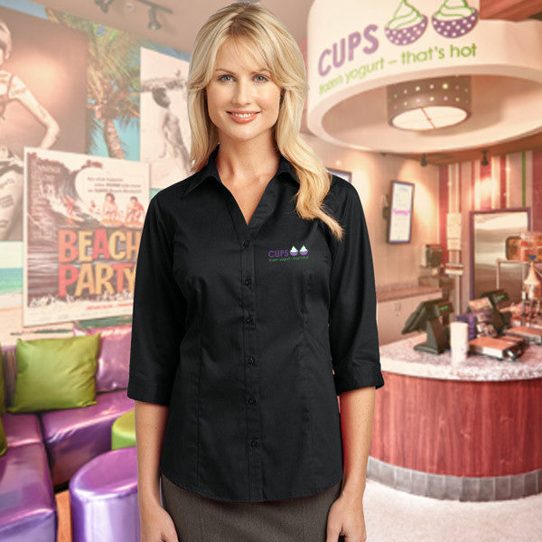 Manager Shirt for Ladies - Embroidered Cups Logo - EZ Corporate Clothing