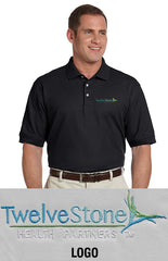 Devon & Jones Mens Pima Pique Short-Sleeve Polo - TwelveStone Health Partners