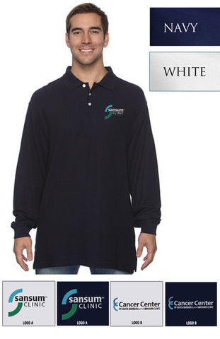 Sansum Clinic Devon & Jones Men's Pima Pique Long-Sleeve Polo - EZ Corporate Clothing  - 2