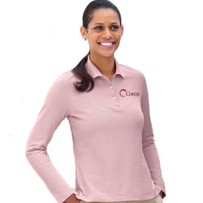 Devon & Jones Ladies Pima Pique Long-Sleeve Polo