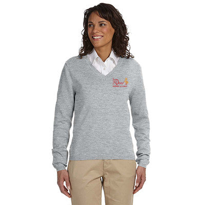 Devon & Jones Ladies' V-Neck Sweater D475W