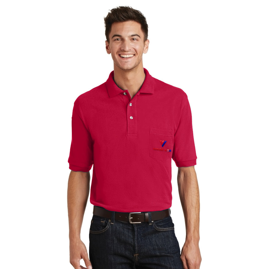 Port Authority Pique Knit Sport Shirt with Pocket