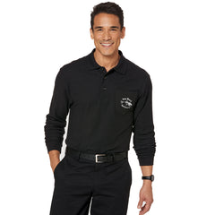 Port Authority Silk Touch Long-Sleeve Polo with Pocket