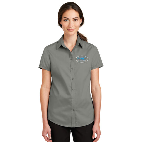 Port Authority Ladies SuperPro Twill Short Sleeve Shirt - L664