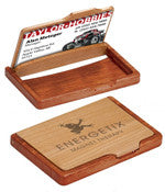 Custom Wooden Business Card Holder - EZ Corporate Clothing  - 1