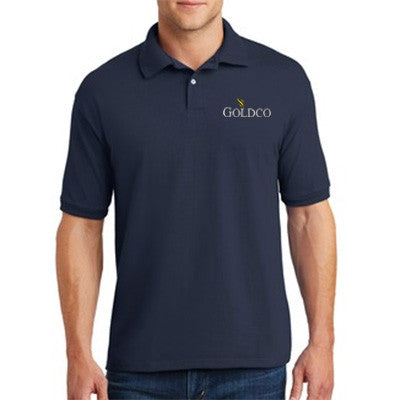 Hanes Men's 5.2 oz. 50/50 EcoSmart Jersey Knit Polo 54 - Goldco