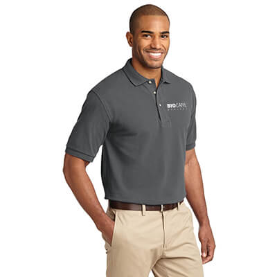 Biocare Medical Heavyweight Cotton Pique Polo - Port Authority K420 - EMB