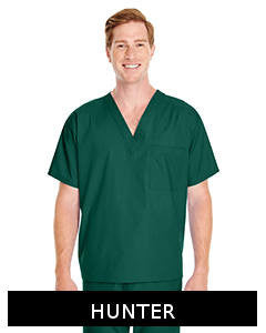 Harriton Embroidered Adult Restore Scrub Top - M897