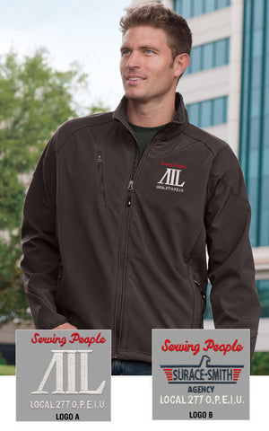 Port Authority Men's Textured Soft Shell Jacket - AIL