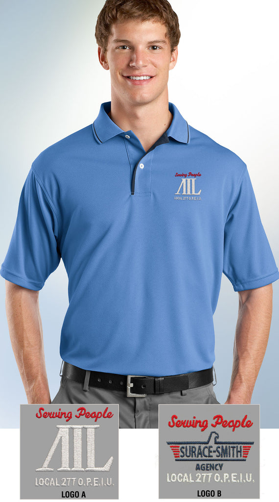 Sport-Tek Men's Dri-Mesh Polo with Tipped Collar & Piping - AIL - EZ Corporate Clothing  - 1