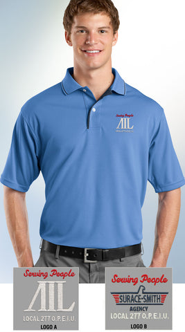 Sport-Tek Men's Dri-Mesh Polo with Tipped Collar & Piping - AIL