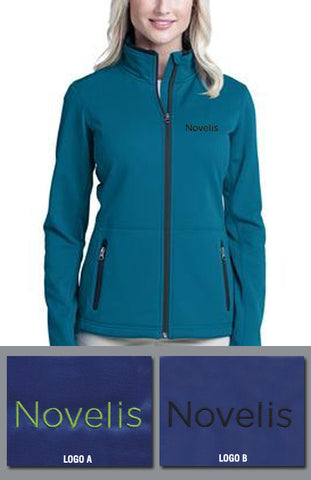 Port Authority Ladies Pique Fleece Jacket - Novelis - Blue Glacier
