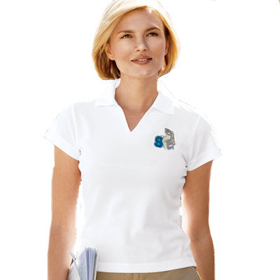Sport-Tek Ladies Dri-Mesh V-Neck Sport Shirt - EZ Corporate Clothing  - 1
