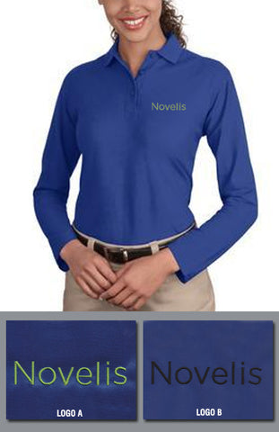 Port Authority Ladies Silk Touch Longsleeve Sport Shirt - Novelis - Royal Blue
