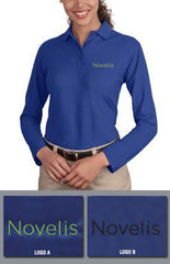 Port Authority Ladies Silk Touch Longsleeve Sport Shirt - Novelis - Royal Blue - EZ Corporate Clothing