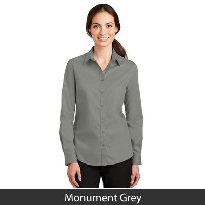 Port Authority Ladies SuperPro Twill Long-Sleeve Shirt - L663
