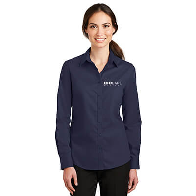 Biocare Medical Ladies SuperPro Twill Shirt - Port Authority L663 - EMB
