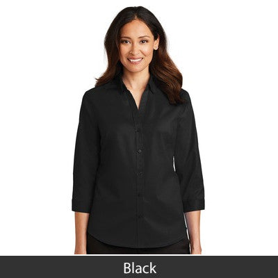 Port Authority Ladies SuperPro Twill 3/4 Sleeve Shirt - L665