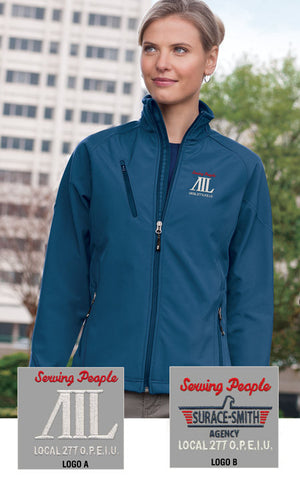 Port Authority Ladies Textured Soft Shell Jacket - AIL