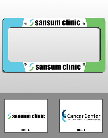Sansum Clinic License Plate Frame - EZ Corporate Clothing  - 2