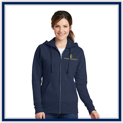 Port & Company Ladies' Core Fleece Full-Zip Hooded Sweatshirt - Stachowski Farms - LPC78ZH