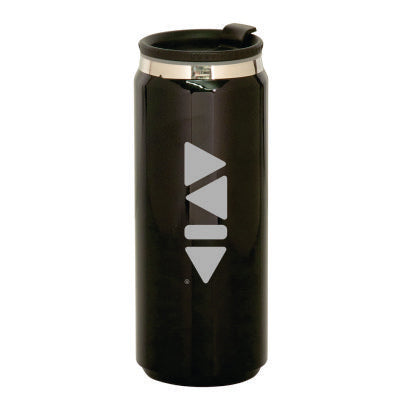Avid 15oz. Black Stainless Steel King Can Travel Mug - LTM051