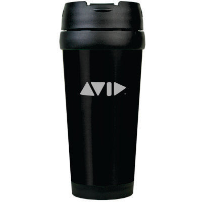 Avid 16oz. Black Stainless Steel Travel Mug
