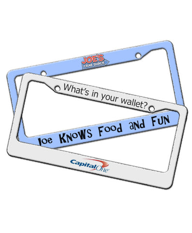 Custom Promotional License Plate Frame - EZ Corporate Clothing  - 2
