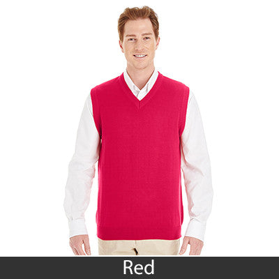 Harriton Men's Pilbloc V-Neck Sweater Vest M415